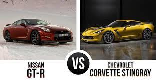 gtr or corvette chevrolet corvette stingray vs nissan gtr