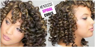 hair spirals the spiral curls on hair heatless permrod