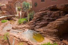 Rock Fountains For Garden Domane Carlson Faux Rock