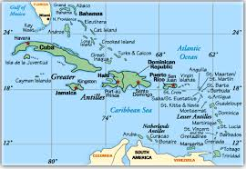 carribbean map map