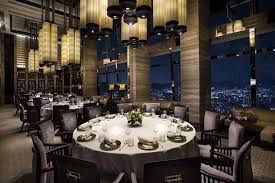 Round Dining Room Sets Friendly Atmosphere Michelin Star Restaurants Hong Kong The Ritz Carlton Hong Kong