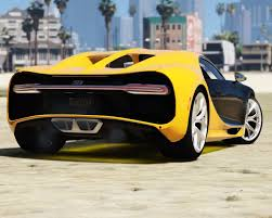 yellow bugatti chiron 2017 bugatti chiron retexture add on replace auto spoiler