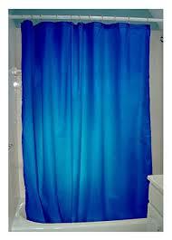 Aqua Blue Shower Curtains Amazon Com Organic Cotton Shower Curtain Cobalt Blue By Bean