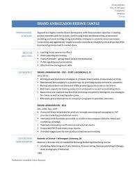 resume references examples brand ambassador resume resume for your job application brand ambassador resume