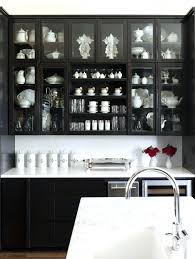 full size of kitchen design cool black cabinets with wooden table