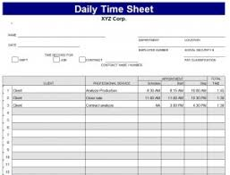 Daily Timesheet Template Excel Daily Timesheet Template Daily Timesheet Template Excel