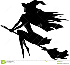 witch silhouette clipart witch flying on a broomstick stock image image 38658121