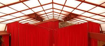 music pavilion roof restored with sunbrella fabric frank lloyd