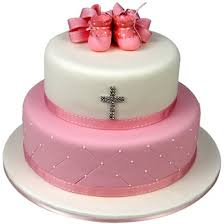 booties cake pink two tier