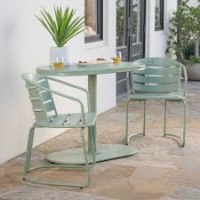Oval Bistro Table Santa Outdoor 3 Oval Bistro Chat Set By Christopher