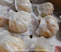 cuisine d une chinoise raviolis aux crevettes à la vapeur haa gaau 蝦餃 les crevettes