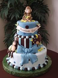 Baby Boy Monkey Theme Monkey Boy Baby Shower Cake Cakecentral Com
