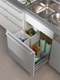 In Cabinet Trash Cans For The Kitchen Kitchen Contemporary Pull Out Trash Can Stainless Steel Cabinet