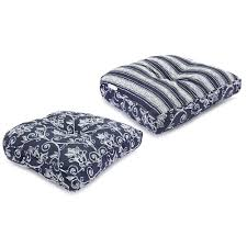 Jaclyn Smith Patio Cushions by Jaclyn Smith Olivier Double Welt Wicker Patio Seat Pad Cushion