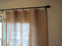Smocked Burlap Curtains Decorating No Sew Burlap Curtains With Lace For Pretty Home
