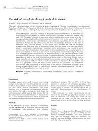 j dische k che the risk of paraplegia through treatment pdf