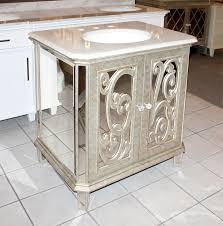 antiqued mirrored bathroom vanity ba948529 vanities best 25