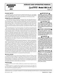 sandpiper sb1 1 2 h user manual 6 pages