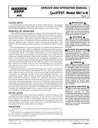 sandpiper sb1 1 2 h user manual 6 pages