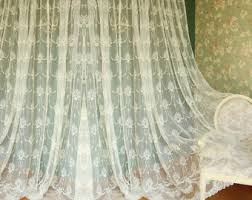 Shabby Chic Balloon Curtains by Pull Up Curtains Etsy