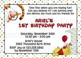 winnie the pooh invites 1st birthday winnie the pooh invitations