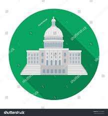 united states capitol icon flat style stock vector 529189390