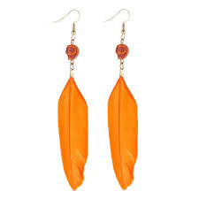 one side feather earring new wholesale indian jewelry one side feather earrings kda4178