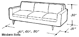 couch measurements dimensions of household furniture for room planning wood working