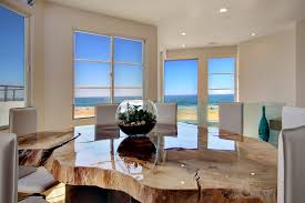 wood slab dining table dining room contemporary with ceiling