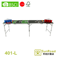 beer pong table size cm 4 sestions 2 4m 8 pink lady folding outdoor table beer pong table