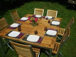 emejing table de jardin carree avec banc images payn us payn us