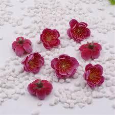 Baby Breath Flowers 10pcs Mini Fabric Cherry Plum Blossom Artificial Flower Silk Baby