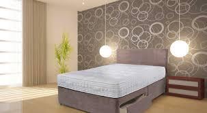 suede divan bed set double memory mattress headboard 139 99