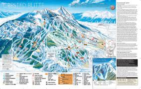 Colorado Mountain Map by Crested Butte Ski Trail Maps Pinterest