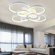 Lighting Ceiling Fixtures Shop Blue Time Acrylic Modern Led Ceiling Lights For Living