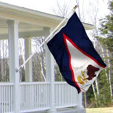 usaflags com american samoa 3x5 foot porch flag kit with