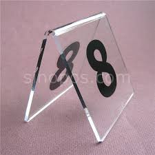 restaurant table top display stands acrylic table number signs 1 60 desk top clear plastic codes card