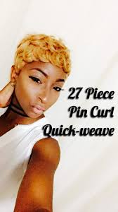 27 Piece Weave Hairstyles 27 Piece Pin Curl Quick Weave Youtube