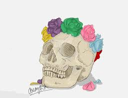 skull flower crown by decaykid on deviantart