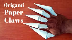 Origami Paper Claws - how to make origami paper claws by origami things easy