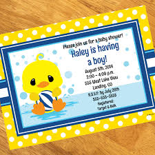 duck baby shower decorations ducky baby shower personalized invitation at dollar carousel