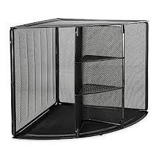 wire mesh desk organizer rolodex wire mesh corner organizer 13 h x 20 w x 14 d black