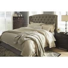 gerlane dark brown queen upholstered headboard b657 77
