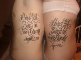 sister tattoo love the saying different writing style though