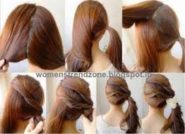 simple hairstyle step by step