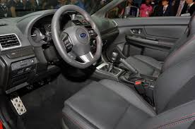 subaru wrx cvt interior 2015 subaru wrx revealed in la cars co za