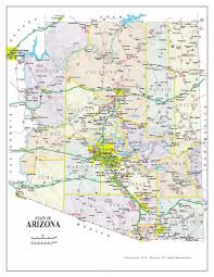 United States Map With Labels by Administrative Map Of Arizona Arizona Administrative Map