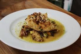 cuisin courgette squid with courgette and lemon picture of fusion cuisine plymouth