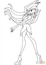 flora winx coloring free printable coloring pages