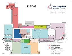 hospital layout maps paris regional medical center